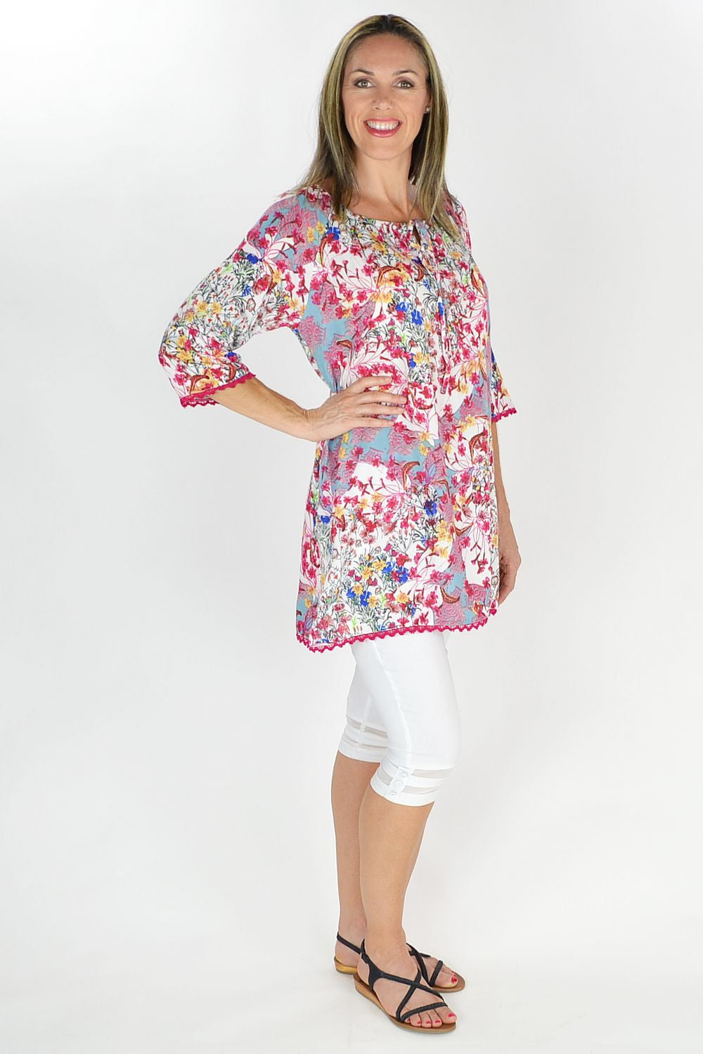 Wild Flower Tunic - at I Love Tunics @ www.ilovetunics.com = Number One! Tunics Destination