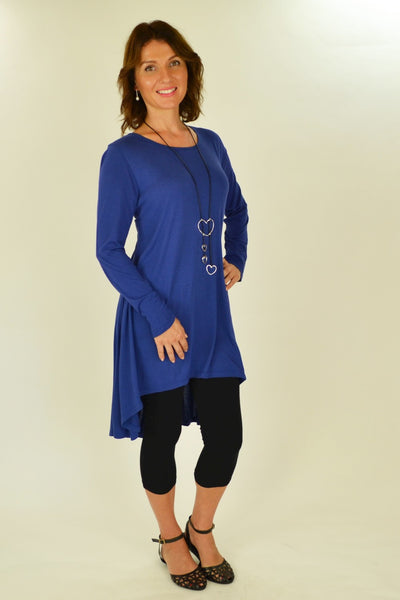 Cobalt Blue Essential Tunic Top | I Love Tunics | Tunic Tops | Tunic Dresses | Women's Tops | Plus Size Australia | Mature Fashion