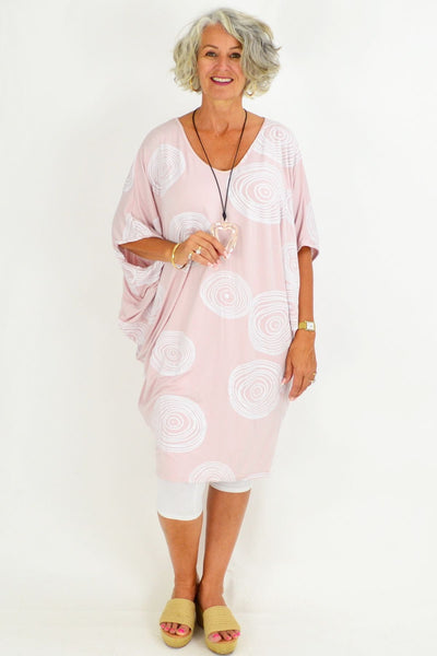 White Swirl Relaxed Tunic