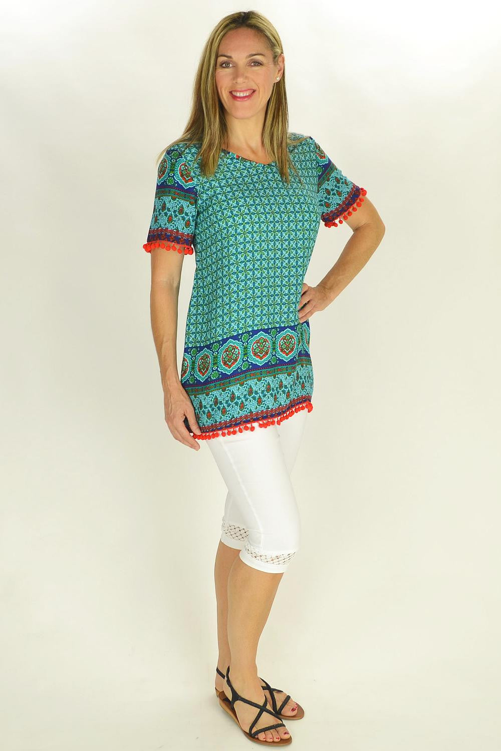 Moroccan Tunic - at I Love Tunics @ www.ilovetunics.com = Number One! Tunics Destination
