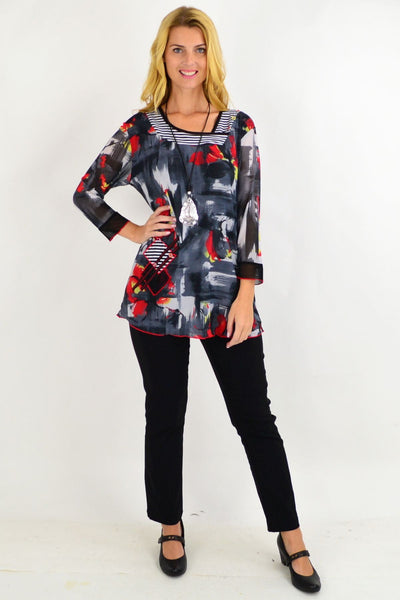 Rosemary floral Tunic Top