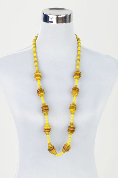 Yellow Wooden Disks Necklace - at I Love Tunics @ www.ilovetunics.com = Number One! Tunics Destination