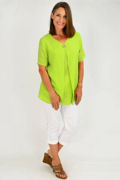 Lime Green Julie Short Sleeve Tunic