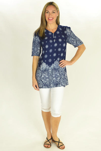 Frans Floral Tunic