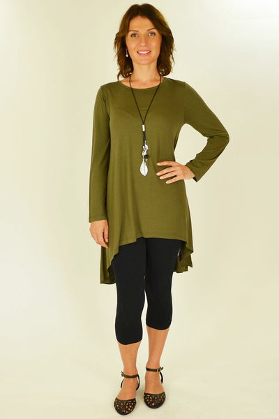 Olive Essential Tunic Top