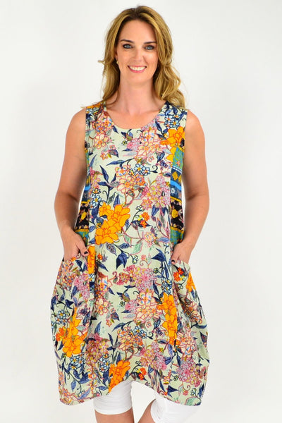 Orientique Bubbles Naples Print Tunic Dress