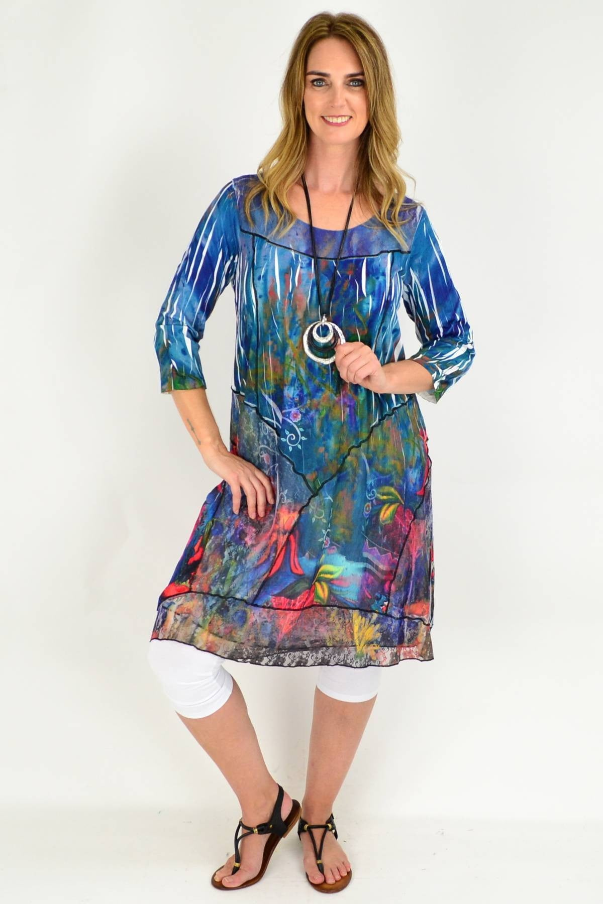 Long Sturts Desert Pea Tunic Dress | I Love Tunics | Tunic Tops | Tunic | Tunic Dresses  | womens clothing online