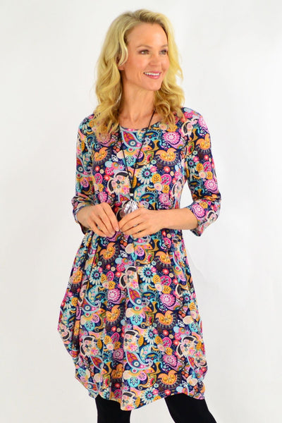 Paisley Cocoon Tunic Dress | I Love Tunics | Tunic Tops | Tunic | Tunic Dresses  | womens clothing online