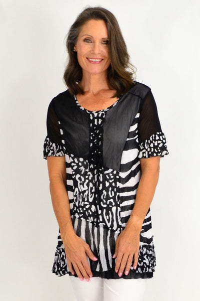 Zoe Zebra Tunic Top | I Love Tunics | Tunic Tops | Tunic | Tunic Dresses  | womens clothing online
