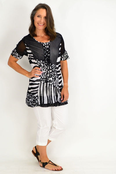 Zoe Zebra Tunic Top