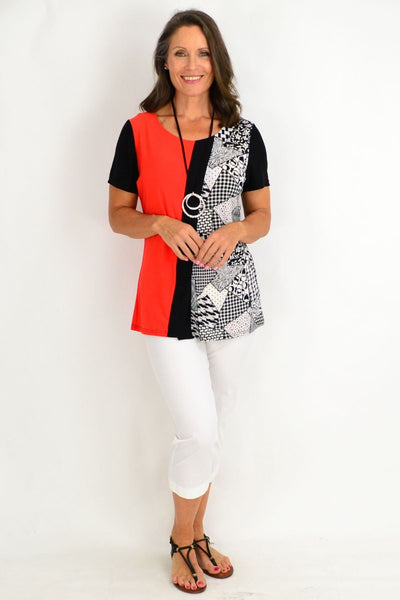 Skylar Short Tunic Top