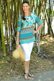 Green Tropical Garden Tunic - at I Love Tunics @ www.ilovetunics.com = Number One! Tunics Destination