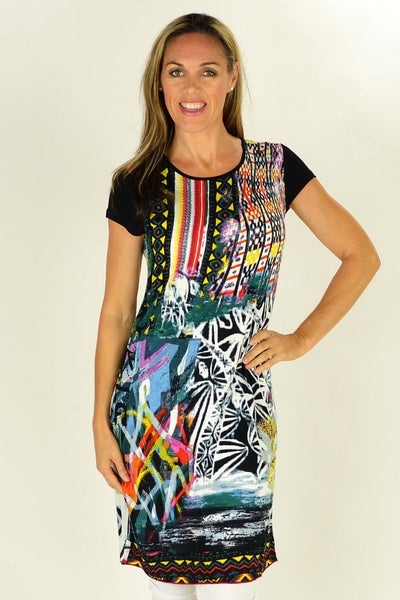 Abstract Art Tunic | I Love Tunics | Tunic Tops | Tunic Dresses | Women's Tops | Plus Size Australia | Mature Fashion