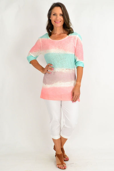 Alexa 3 Tone Tunic Top