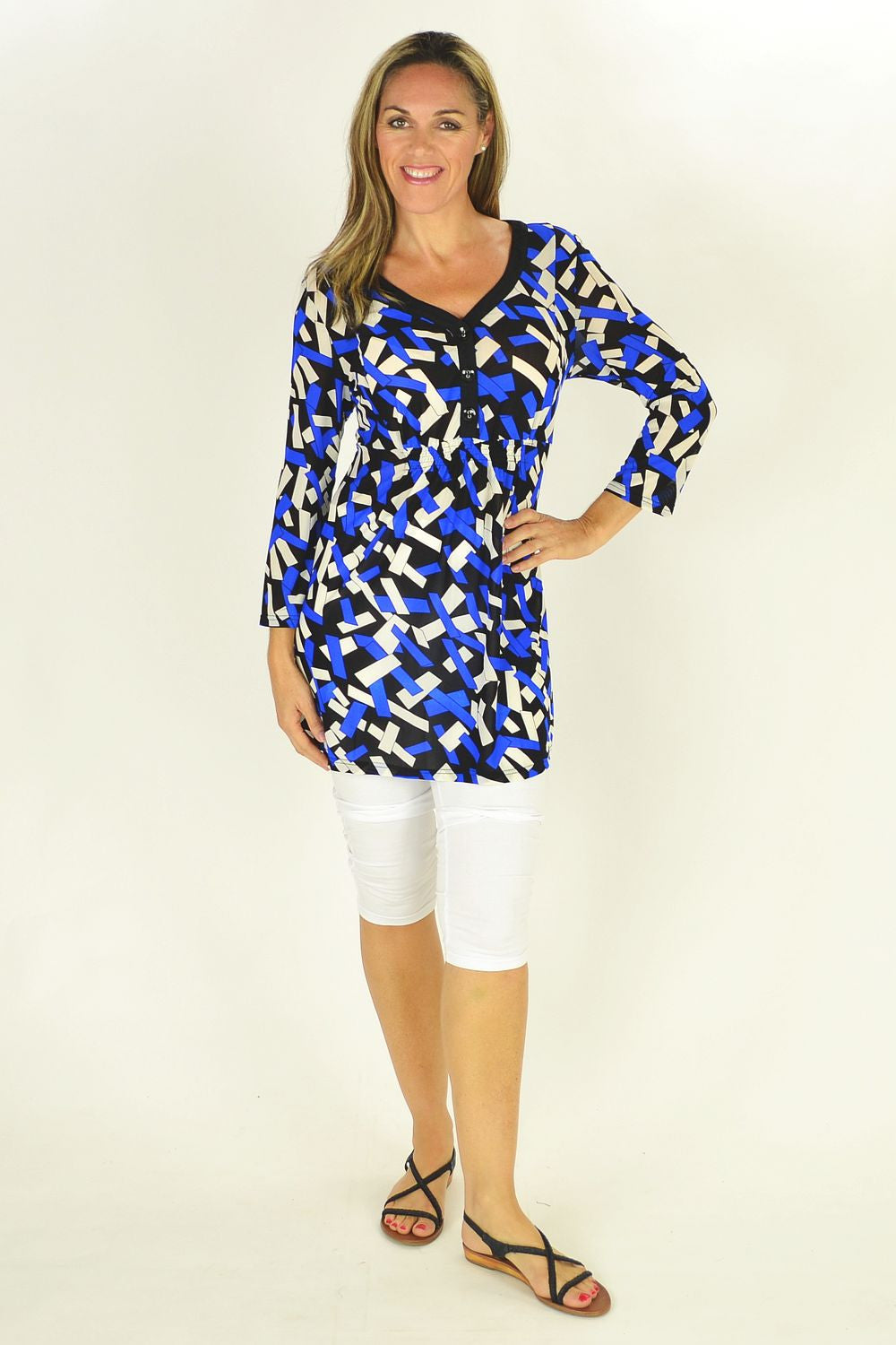 Clarity Shapes Tunic Top | I Love Tunics | Tunic Tops | Tunic | Tunic Dresses  | womens clothing online