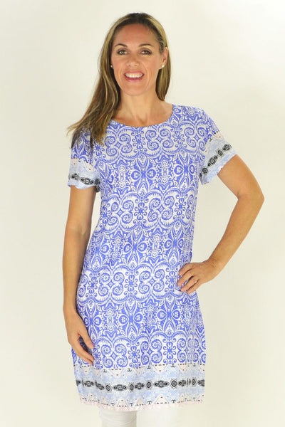 Madeline Floral Tunic - at I Love Tunics @ www.ilovetunics.com = Number One! Tunics Destination