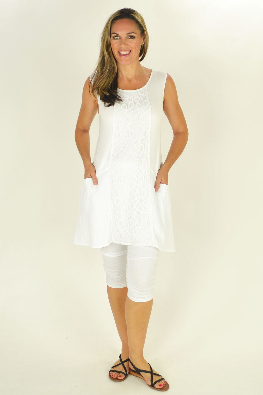 White Bright Clarity Tunic | I Love Tunics | Tunic Tops | Tunic | Tunic Dresses  | womens clothing online