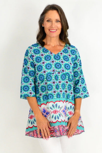 One Summer Green Aqua Tunic Top | I Love Tunics | Tunic Tops | Tunic | Tunic Dresses  | womens clothing online
