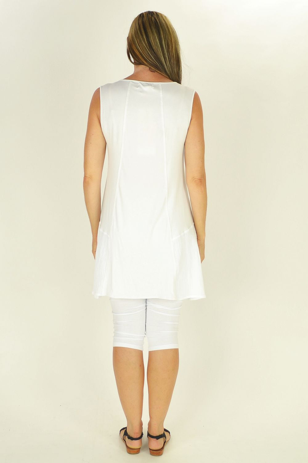 White Bright Clarity Tunic - at I Love Tunics @ www.ilovetunics.com = Number One! Tunics Destination