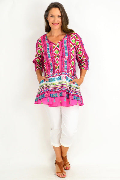 One Summer Pink Tunic Top