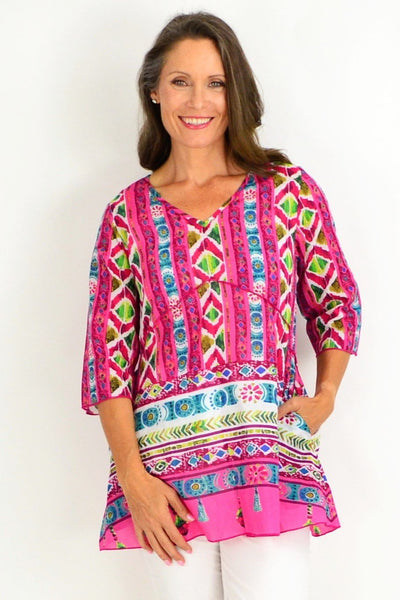 One Summer Pink Tunic Top | I Love Tunics | Tunic Tops | Tunic | Tunic Dresses  | womens clothing online