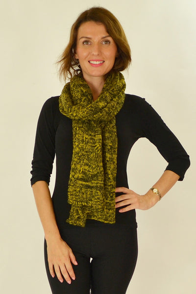 Yellow Black Pocket Scarf | I Love Tunics | Tunic Tops | Tunic | Tunic Dresses  | womens clothing online