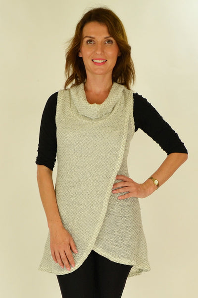 White Knit Mia Tunic - at I Love Tunics @ www.ilovetunics.com = Number One! Tunics Destination