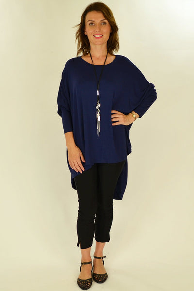 Navy Blue Relaxed Renee Tunic