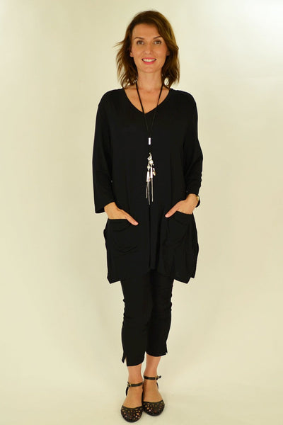 Black Penny Pocket Tunic
