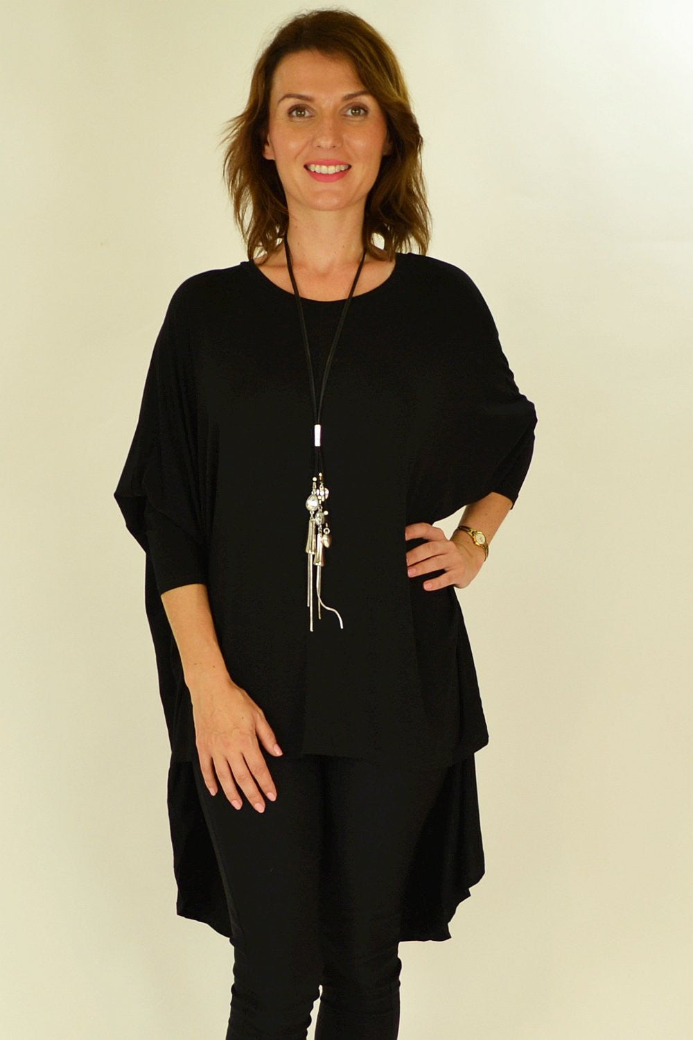 Black Relaxed Renee Tunic