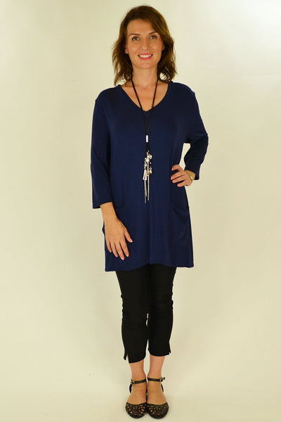 Navy Blue Penny Pocket Tunic