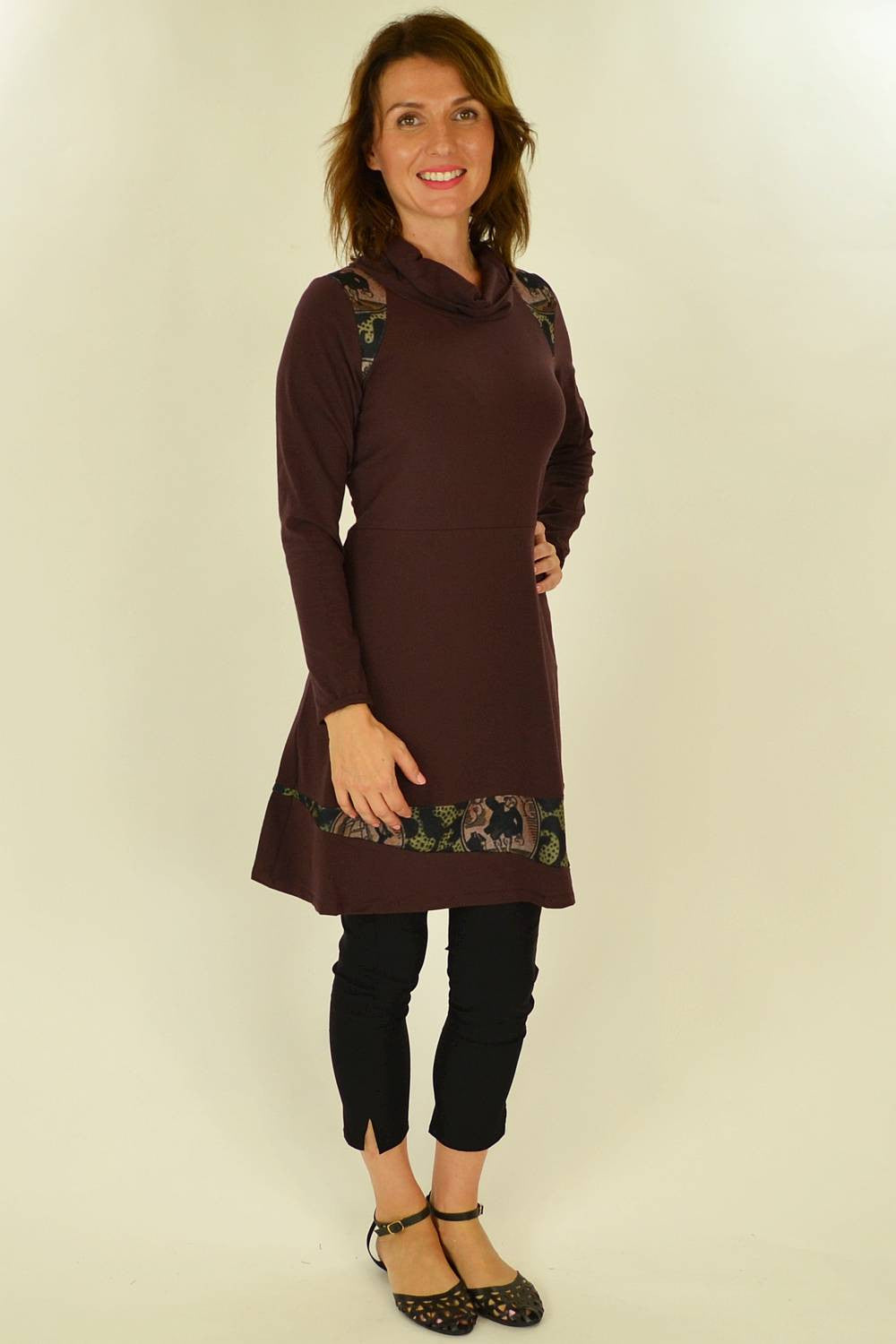 Holmes Fallon Maroon Sail Away Tunic - at I Love Tunics @ www.ilovetunics.com = Number One! Tunics Destination