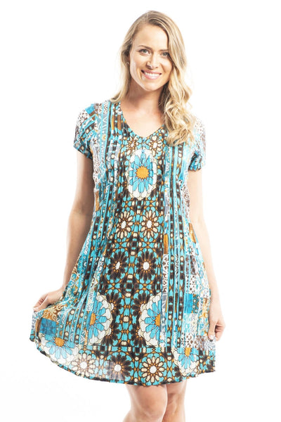 Crinkle Dress Sun Tunic Dress | I Love Tunics | Tunic Tops | Tunic Dresses | Women's Tops | Plus Size Australia | Mature Fashion