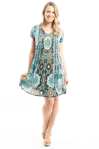 Crinkle Desert Sun Tunic Dress