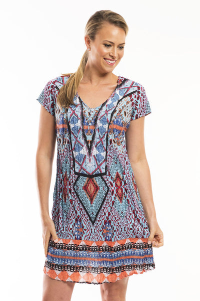 Jasmina Cotton Tunic Dress - at I Love Tunics @ www.ilovetunics.com = Number One! Tunics Destination