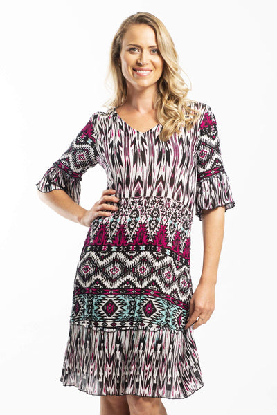 Crinkle Pop Tunic Dress | I Love Tunics | Tunic Tops | Tunic Dresses | Women's Tops | Plus Size Australia | Mature Fashion