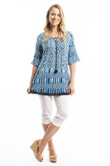 Ocean Wave Cotton Tunic Blouse | I Love Tunics | Tunic Tops | Tunic | Tunic Dresses  | womens clothing online