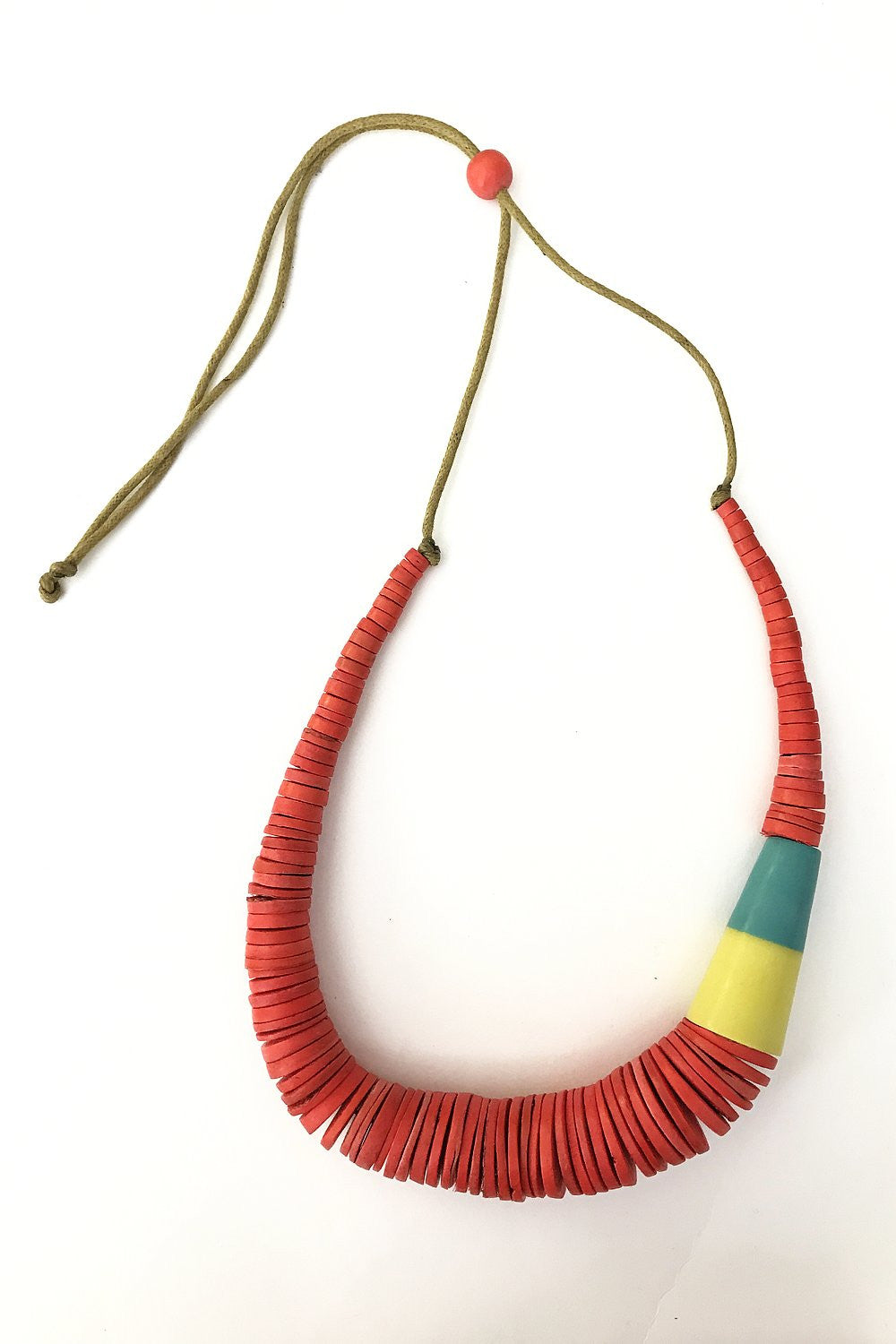 Red Wooden Necklace - at I Love Tunics @ www.ilovetunics.com = Number One! Tunics Destination