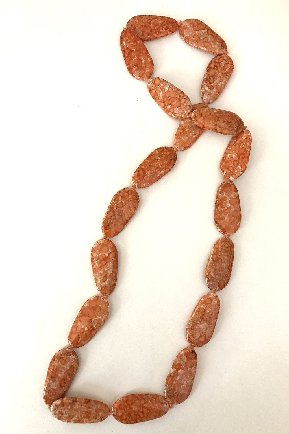 Orange Speckled Necklace - at I Love Tunics @ www.ilovetunics.com = Number One! Tunics Destination