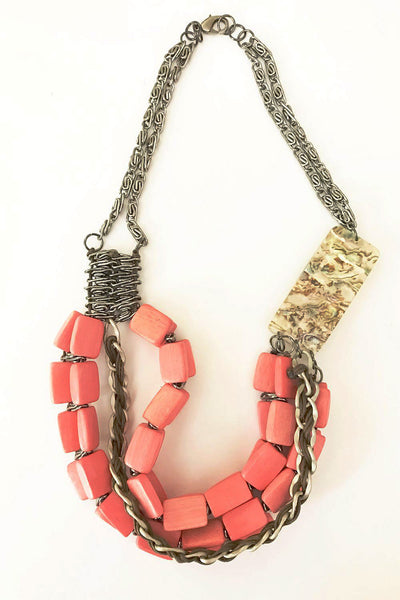 Multilayer Coral Necklace - at I Love Tunics @ www.ilovetunics.com = Number One! Tunics Destination