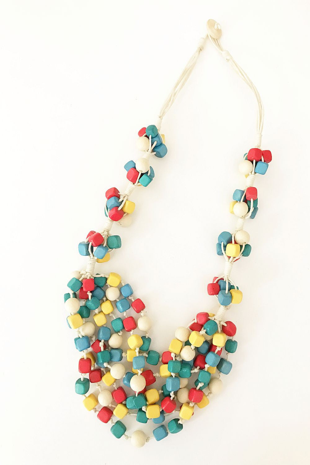 Multicoloured Cubes Necklace