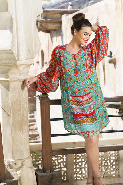 Kashi Print Tunic Dress - at I Love Tunics @ www.ilovetunics.com = Number One! Tunics Destination