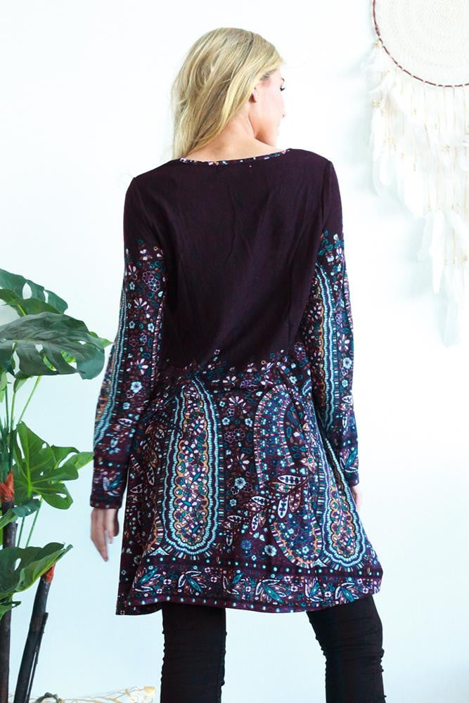 Patricia Paisley Long Tunic Dress | I Love Tunics | Tunic Tops | Tunic Dresses | Women's Tops | Plus Size Australia | Mature Fashion