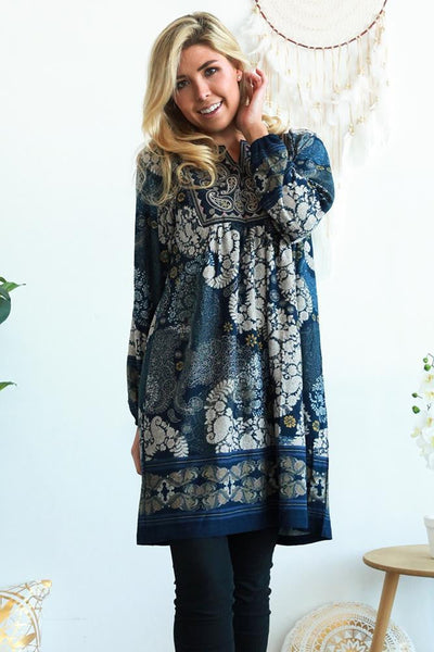 Harmony Long Sleeve Tunic Dress