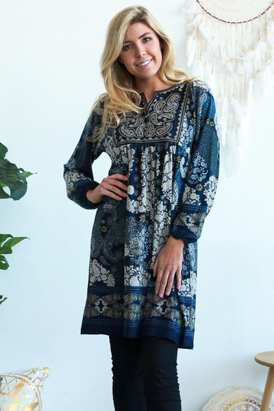 Harmony Long Sleeve Tunic Dress | I Love Tunics | Tunic Tops | Tunic Dresses | Women's Tops | Plus Size Australia | Mature Fashion