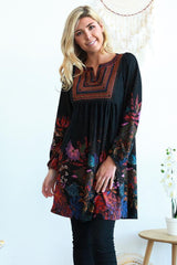 Adele Floral Long Sleeve Tunic Dress | I Love Tunics | Tunic Tops | Tunic | Tunic Dresses  | womens clothing online