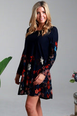 Winter Flower Long Sleeve Tunic Dress | I Love Tunics | Tunic Tops | Tunic | Tunic Dresses  | womens clothing online