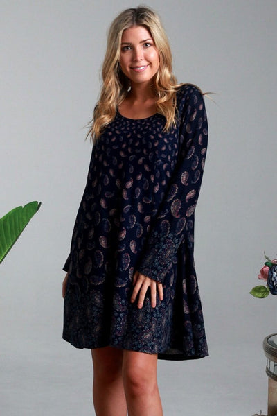 Evelyn Paisley Long Sleeve Tunic Dress | I Love Tunics | Tunic Tops | Tunic Dresses | Women's Tops | Plus Size Australia | Mature Fashion