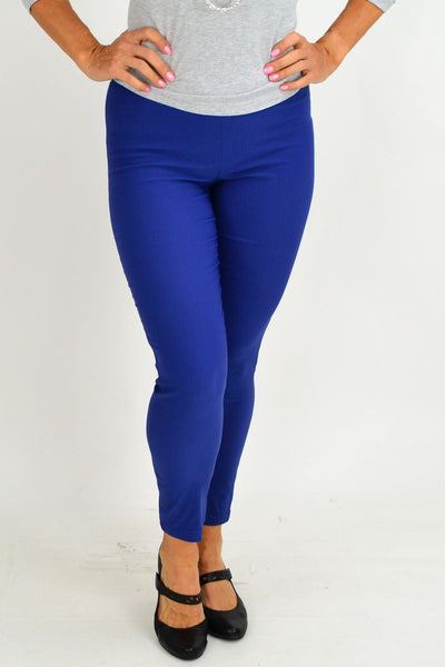 Blue Eva Stretch 7/8 Pants