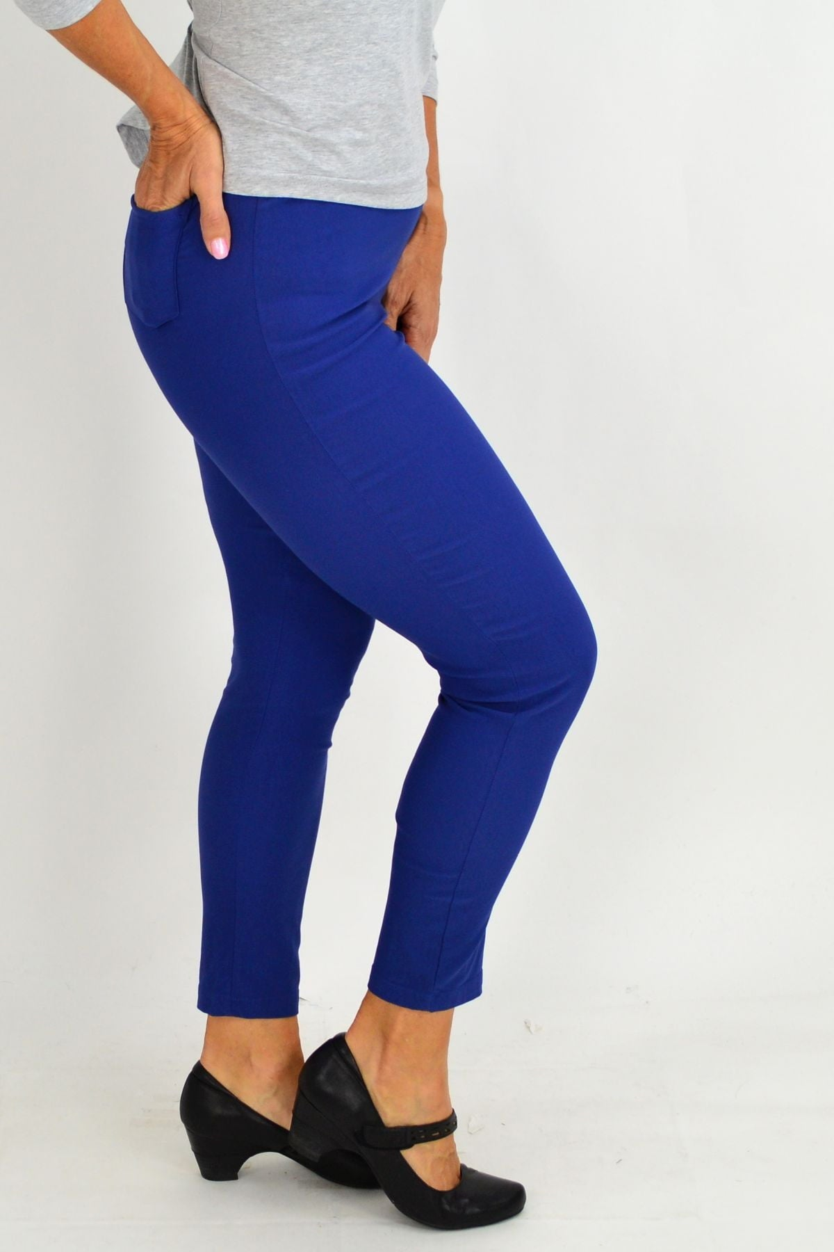 Blue Eva Stretch 7/8 Pants | I Love Tunics | Tunic Tops | Tunic | Tunic Dresses  | womens clothing online
